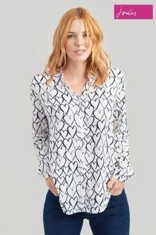 Joules Cream Elvina Long Sleeve Shirt