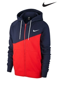 Nike Swoosh Zip Through Colourblock Hoody