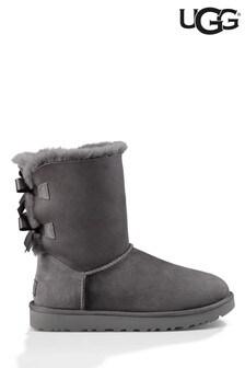 UGG® Grey Bailey Bow II Boots