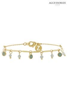 Z for Accessorize Stone Charm Bracelet With Swarovski® Crystals