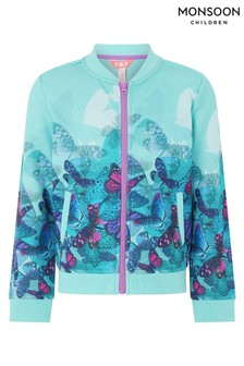 Monsoon Aqua Fenisia Bomber Jacket
