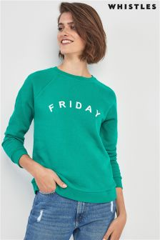 Whistles Green Friday Logo Sweat