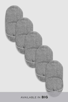Cushioned Sole Invisible Trainer Socks Five Pack