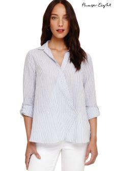 Phase Eight Blue/White Gianna Stripe Shirt