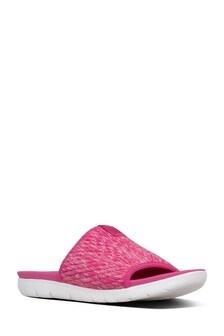 FitFlop™ Pink Artknit Olivia Pool Slide Sandal