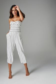 Stripe Twist Jumpsuit
