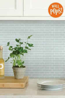 Wall Pops Sea Glass Backsplash Tiles