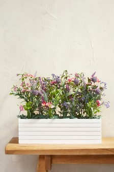 Large Artificial Floral In Window Box