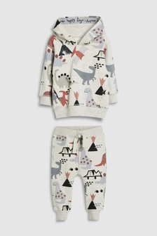 Dino All Over Print Hoody And Joggers Set (3mths-7yrs)