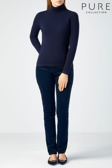 Pure Collection Samtjeans in blauer Waschung