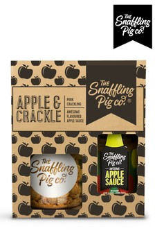 Pork Scratching Apple and Crackle Gift Set by Snaffling Pig