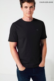 Calvin Klein Jeans Black Embroidered Logo T-Shirt