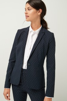 Dot Slim Suit Jacket