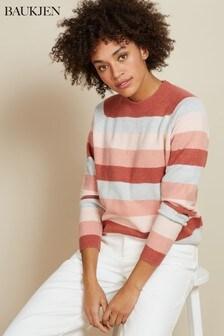 סוודר עם פסים של Baukjen בצבע אפור