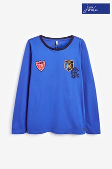 Joules Blue Jesper Badge T-Shirt