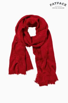 FatFace Red Poppy Brushed Scarf