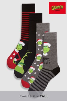 Grinch Socks Four Pack