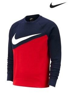 Nike Swoosh Colourblock Crew Jumper