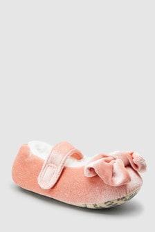 Pantuflas tipo bailarina con lazo (Niño pequeño)