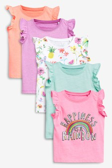 Frill Vest Five Pack (3mths-7yrs)
