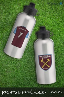 Personalised West Ham Water Bottle by Personalised Football Gifts