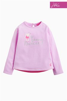 Joules Mauve Bessie Screen Print Top
