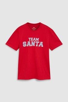 Футболка с командой Санта-Клауса
