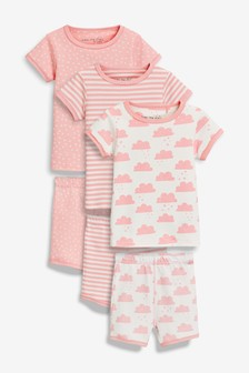 Cloud Snuggle Short Pyjamas Three Pack (9mths-8yrs)