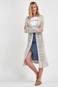 Crochet Longline Cardigan