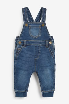 Denim Dungarees (0mths-2yrs)