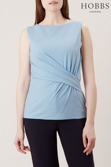 Hobbs Blue Sian Gathered Top
