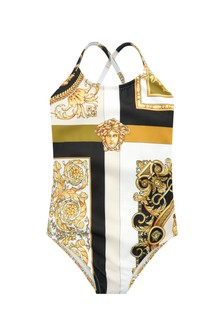 Versace Baby Girls White Swimsuit