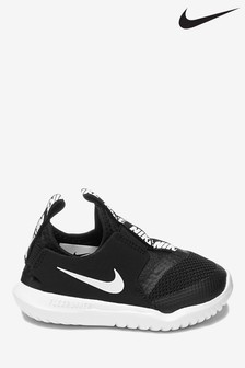 Nike Run Black/White Flex Runner Infant Trainers