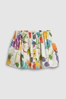 Fruit Print Button Front Skirt (3mths-7yrs)