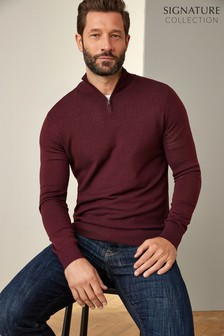 Signature Zip Neck Jumper