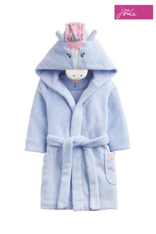 Joules Sky Blue Unicorn Character Dressing Gown