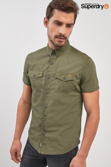 Superdry Khaki Short Sleeve Rookie Shirt