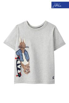 Official Peter Rabbit Movie Collection Joules Grey T-Shirt