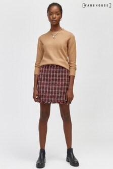 Warehouse Multi Ruby Tweed Pelmet Skirt
