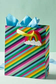 Rainbow Stripe Gift Bag