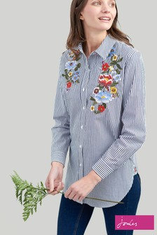 Joules Blue Laurel Embroidered Shirt