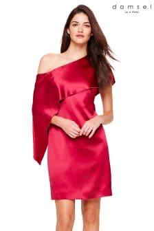 Damsel In A Dress Pink Lissy Asymmetric Dress