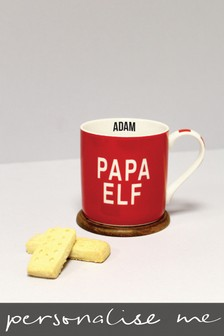 Personalised Papa Elf Mug