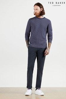 Ted Baker Blue Retinol Semi Plain Trousers