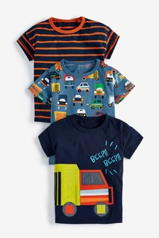 Beep Beep Short Sleeve T-Shirts Three Pack (3mths-7yrs)