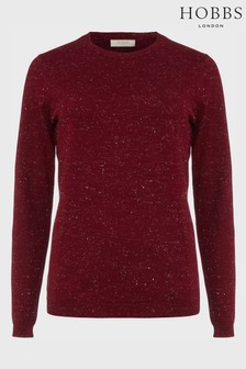 Hobbs Red Penny Sparkle Sweater