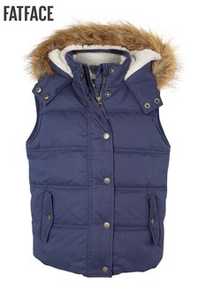FatFace Light Navy Abbie Gilet