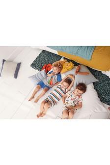 Pack de tres pijamas con estampado de medios de transporte/rayas (9 meses-8 años)