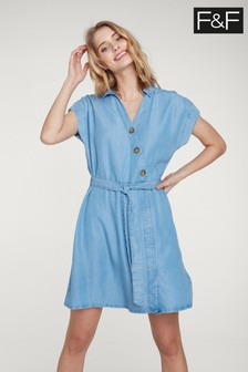 Niebieska asymetryczna sukienka F&F