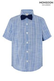 Monsoon Slub Shirt With Bow Tie
